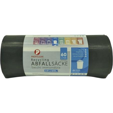 Profi Clean Abfall-Säcke 60 Liter 10er-Packung