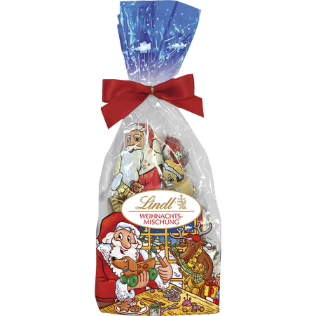 Lindt&Sprüngli Weihnachtsmann Kristallbeutel Kinder