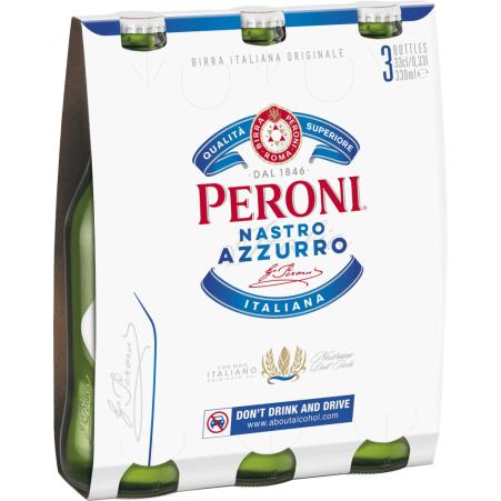 Peroni Nastro Azzurro Tray 3x 0,33 Liter