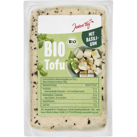 Jeden Tag Bio Tofu Basilikum