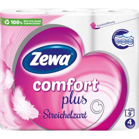 ZEWA Comfort Toilettenpapier streichelzart 9x 120 Blatt 4-lagig