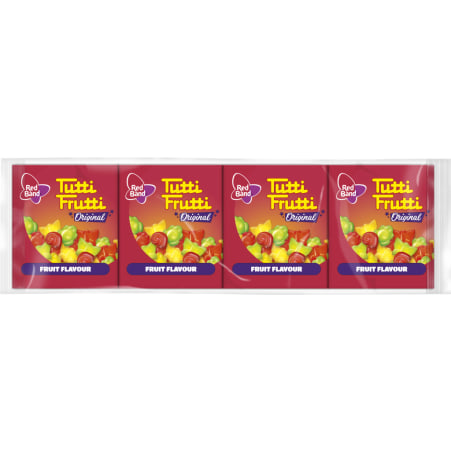 Red Band Tutti Frutti Hearts 4er-Packung