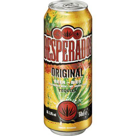 Desperados Tequilabeer 0,5 lt. Dose