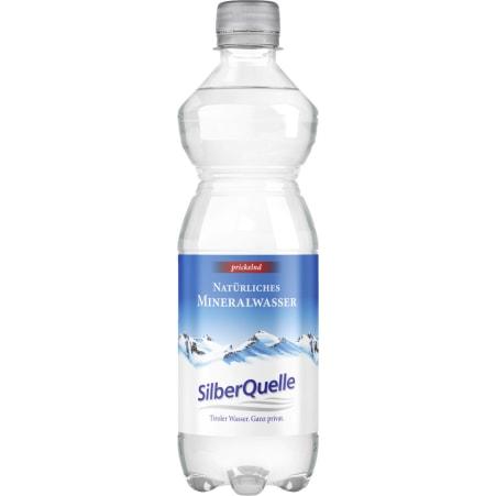 SilberQuelle Mineralwasser belebend 0,5 Liter