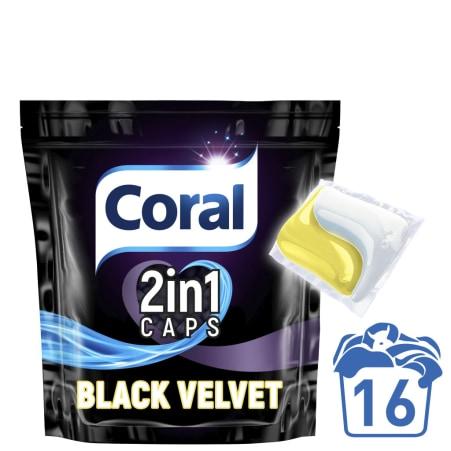 Coral 2 in 1 Caps Black Velvet 16 Waschgänge