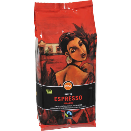 EZA Bio Kaffee Organico Espresso ganze Bohne 1 kg