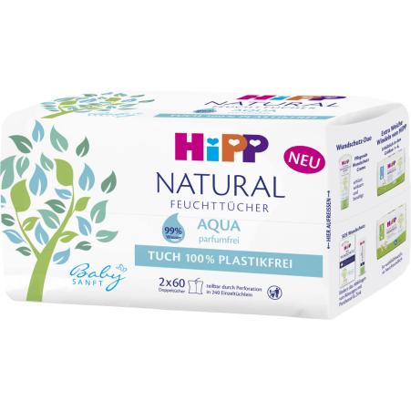 HiPP Hipp Feuchttücher Natural Aqua Duo