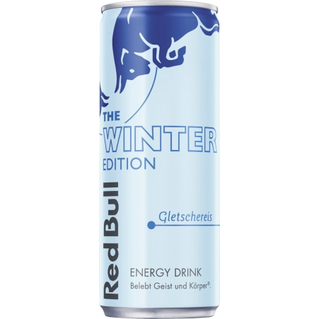 Red Bull The Winter Edition Energy Drink Gletscher 0,25 Liter Dose