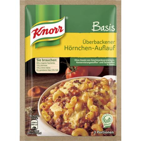 Knorr Basis Überbackener Hörnchen-Auflauf