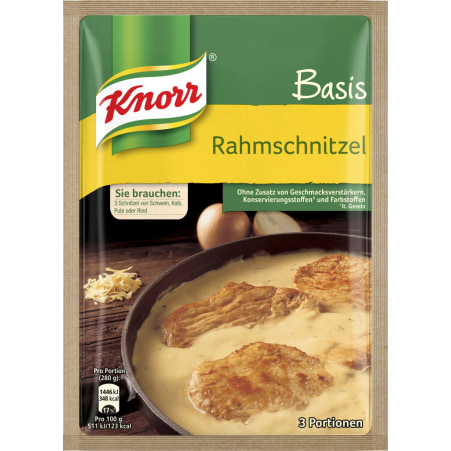 Knorr Basis Rahmschnitzel