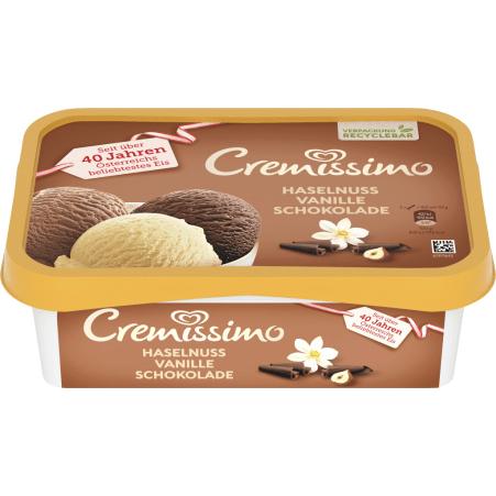 Cremissimo Haselnuss-Vanille-Schokolade