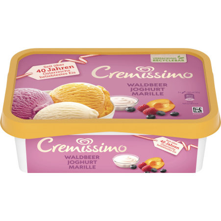 Cremissimo Waldbeer-Joghurt-Marille