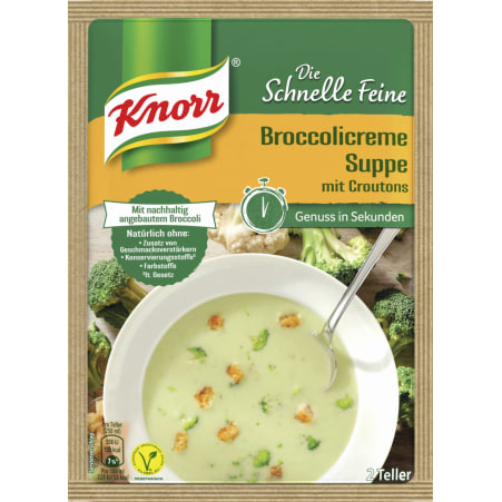 Knorr Die Schnelle Feine Broccolicremesuppe