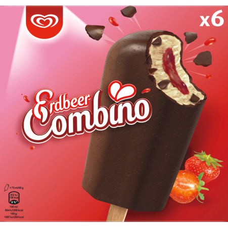 ESKIMO Erdbeer Combino 6er-Packung