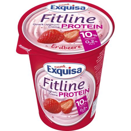Exquisa Fitline Protein Quark-Joghurt-Creme Erdbeere