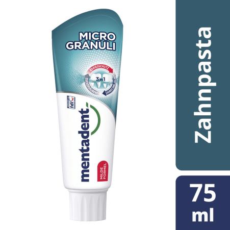 Mentadent Zahnpasta Micro-Granuli