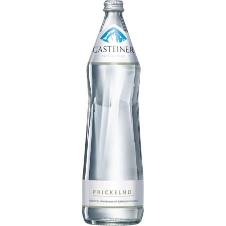 Gasteiner Mineralwasser prickelnd 1,0 Liter Glasflasche
