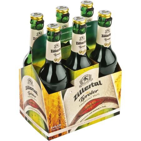Zillertal Bier Tyroler Imperial Hell Tray 6x 0,33 Liter Mehrweg-Flasche