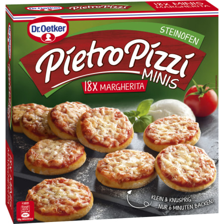 Dr. Oetker Pietro Pizzi Margherita Minis 18er-Packung