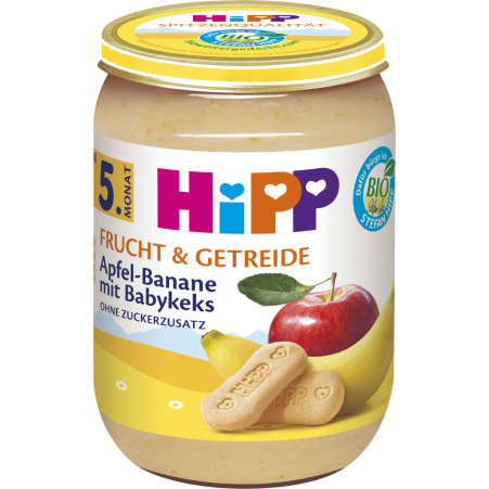 HiPP Apfel-Banane mit Babykeks 4. Monat