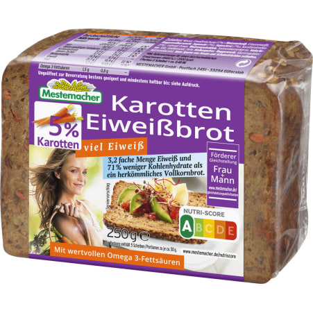 Mestemacher Eiweißbrot Karotte