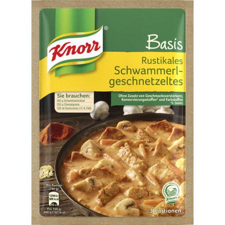 Knorr Basis Rustikales Schwammerlgeschnetzeltes