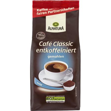 Alnatura Bio Cafe Classic entkoffeiniert gemahlen