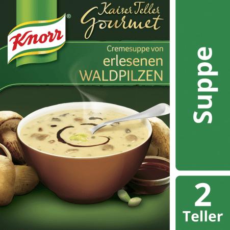 Knorr Kaiser Teller Gourmet Cremesuppe Waldpilz