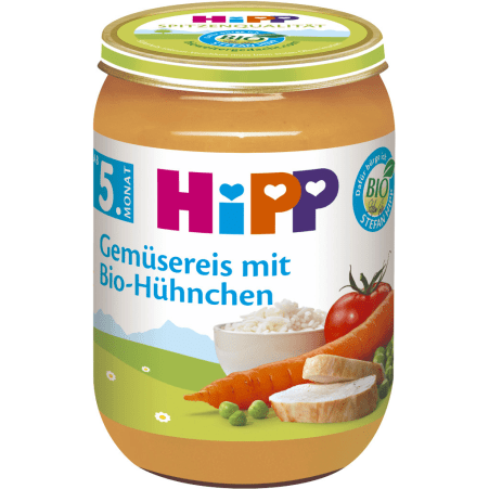 HiPP Bio Gemüsereis mit Hühnchen 4. Monat