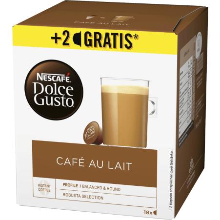 NESCAFE Dolce Gusto Cafe au Lait 18 Kapseln