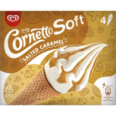 Cornetto Cornetto Soft Salted Caramel 4er-Packung
