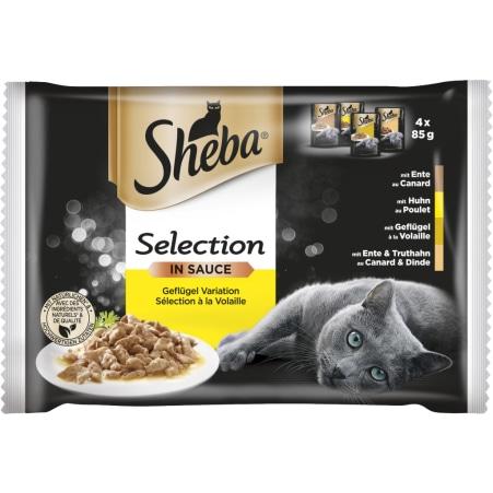 SHEBA Selection in Sauce Geflügel 4x 85 gr