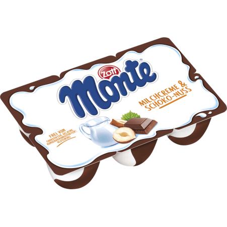 Zott Monte Monte Snack Milchcreme-Schoko-Nuss 6er-Packung