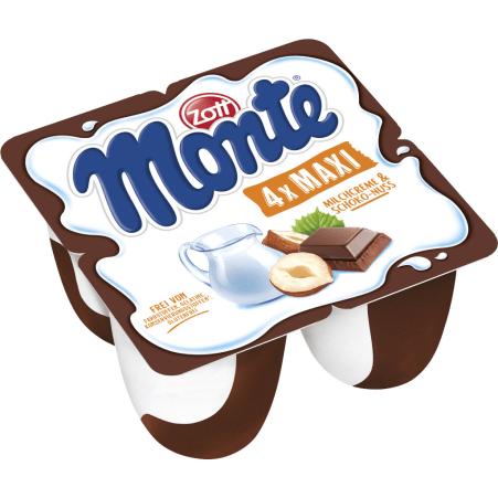 Zott Monte Monte MAXI Milchcreme-Schoko-Nuss