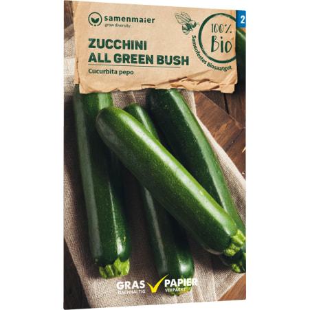 Samen Maier Bio Bio Samen Zucchin grün