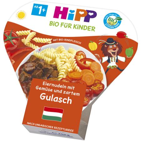 HiPP Bio Teller Eiernudeln-Gemüse-Gulasch 12. Monat