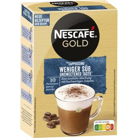 NESCAFE Gold Cappuccino weniger süß 10er-Packung