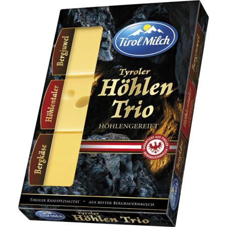 Tirol Milch Tyroler Höhlentrio aus Bergbauernmilch