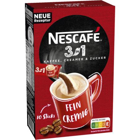 NESCAFE 3 in 1 löslicher Kaffee 10er-Packung