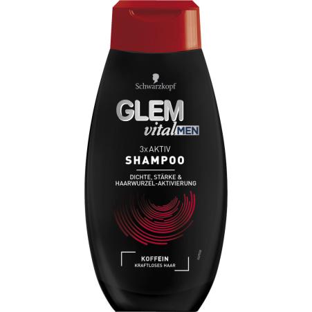 Schauma Glem Vital Men 3x Aktiv Shampoo Koffein