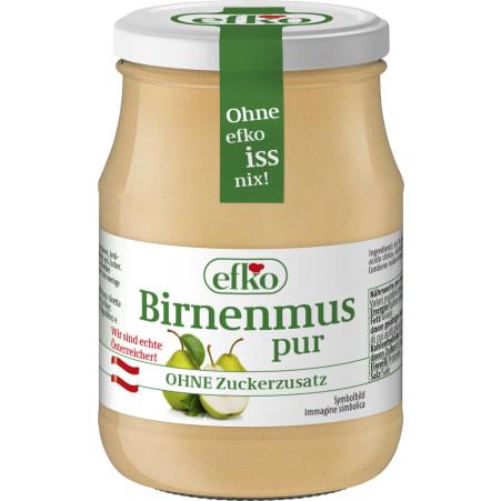 efko Birnenmus pur ohne Zucker