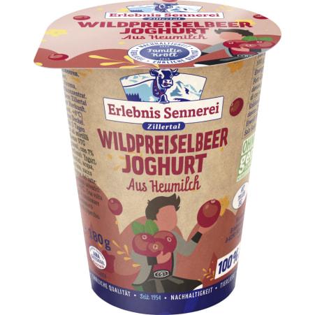 ErlebnisSennerei Zillertal Heumilchjoghurt Wildpreiselbeer