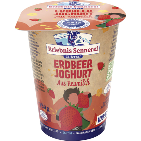 ErlebnisSennerei Zillertal Heumilchjoghurt Erdbeer