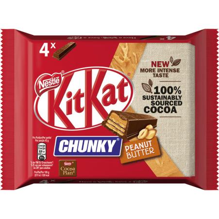 NESTLE Kit Kat Chunky Peanut Butter 4er-Packung