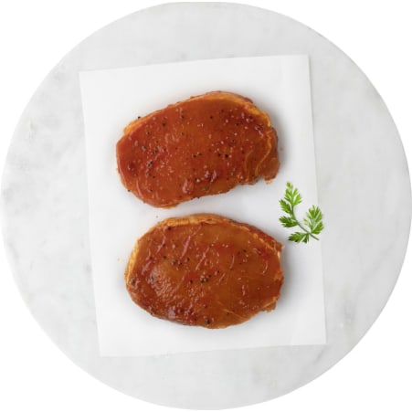 Alpenmetzgerei BBQ Rückensteak vom Schwein mariniert 2er-Packung