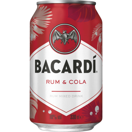 BACARDI Carta Blanca und Cola 10% Dose