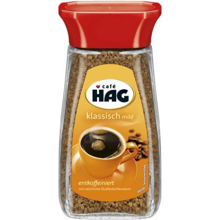 CAFE HAG Löslicher Bohnenkaffee entkoffeiniert