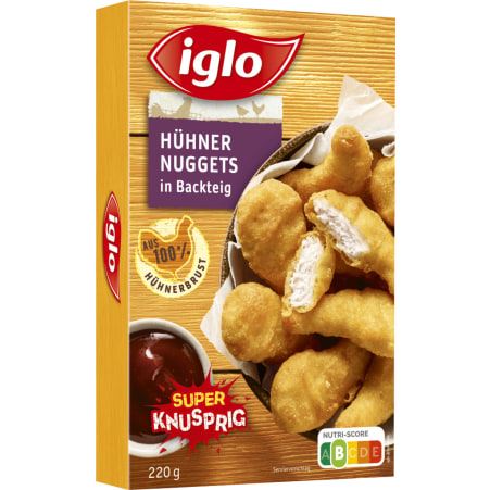 iglo Hühnernuggets in Backteig