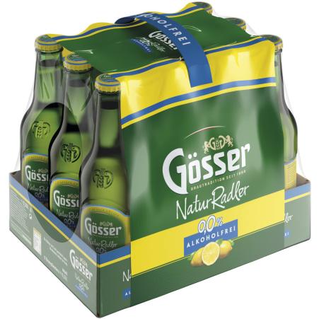 GOESSER Naturradler alkoholfrei Tray 12x 0,33 Liter Einweg-Flasche