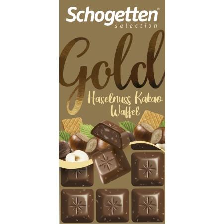 Schogetten Gold Haselnuss-Kakao-Waffel